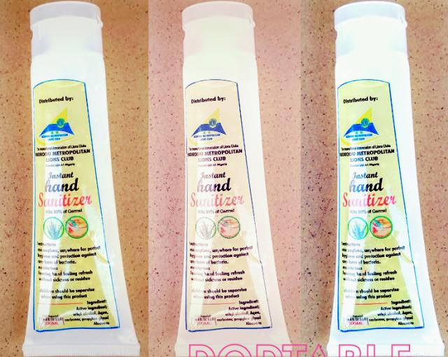 Portable Hand Sanitizers Made By The Ikorodu Metropolitan Lions Club